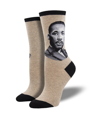 MLK Jr Portrait Socks for Women - Shop Now | Socksmith
