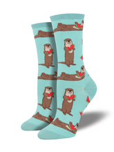 Otters With Watermelon Socks for Women - Shop Now | Socksmith