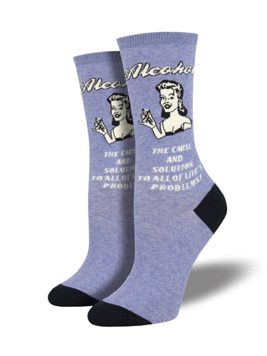 Retro Spoof Alcohol Socks for Women - Shop Now | Socksmith