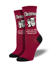 Retro Spoof Christmas Humor Socks for Women - Shop Now | Socksmith