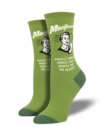 Retro Spoof Marijuana Socks for Women - Shop Now | Socksmith