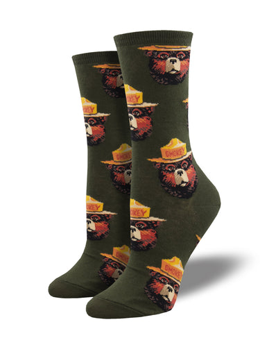 Smokey Bear Face Socks for Women - Shop Now | Socksmith