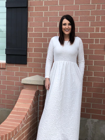 Britt-Temple Dress with Pockets-LDS