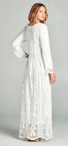 3c37f4ff02 Caitlin-White Lace Dress/ Latter Day Saint Temple Dress. -Also Comes in  Plus Size XS-XXL