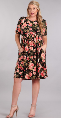 Plus Size Baby Doll Dress with Pockets!