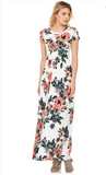 Caitlin Floral Print Maxi Dress. Great for Bridesmaids also matching for girls Sizes S-XL