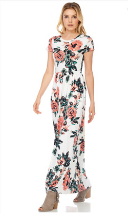 a49422c9c14 Caitlin Floral Print Maxi Dress. Great for Bridesmaids also matching for  girls Sizes S-