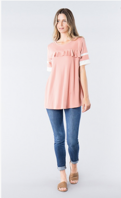 "Nursing Friendly Top in Mauve ""Orange Creek"" brand"