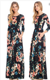 Brittani -FIT AND FLARED POCKET MAXI DRESS WITH ELASTIC WAIST BAND