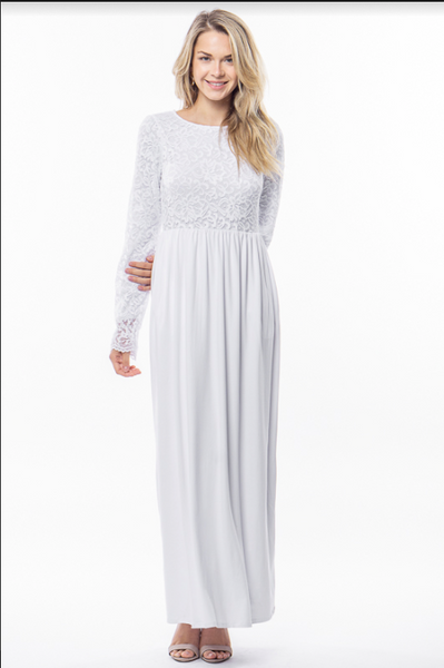 Rowe Lace Temple Dress with Pockets - LDS