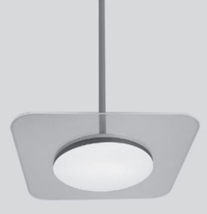 GM Lighting ClearTask 18W Square Surface/Wall/Pendant Mount