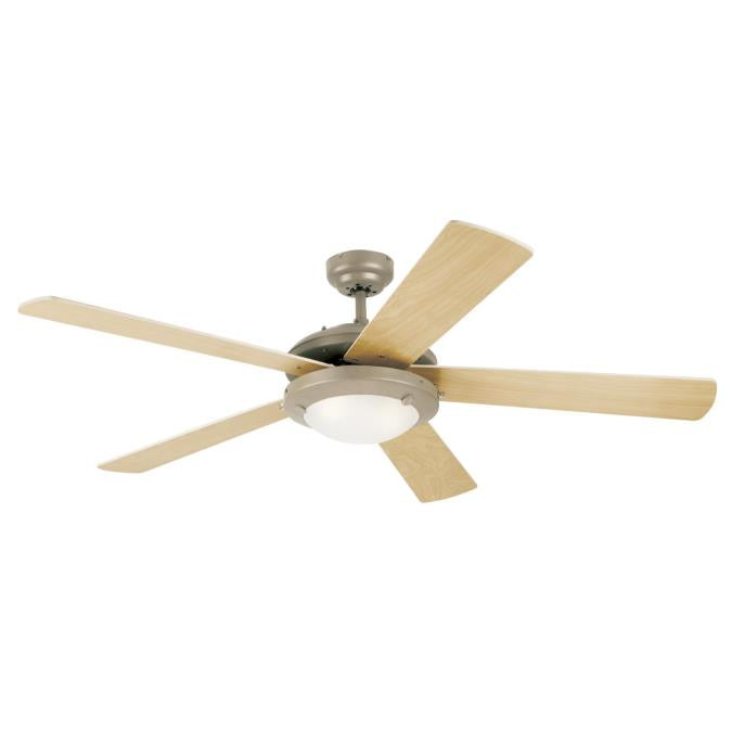 "Westinghouse 7813665 Comet 52"" Reversible Ceiling Fan with Light Kit"