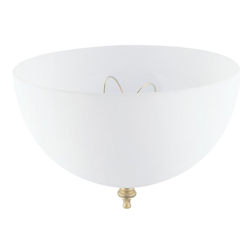 Westinghouse 8149400 Acrylic White Dome Clip-On Shade