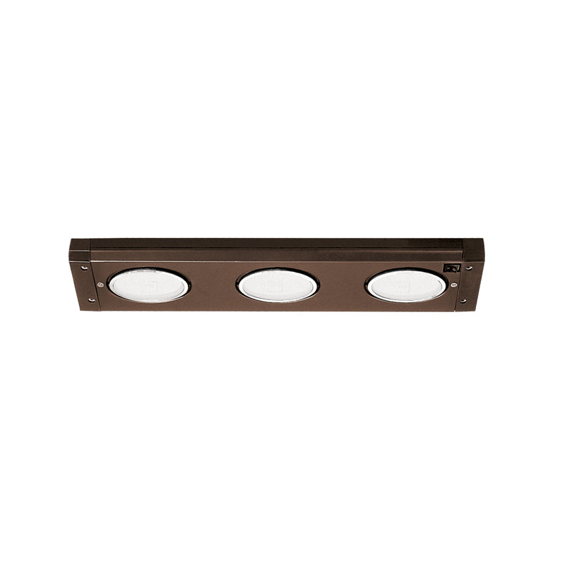 WAC BA-X3-BB Line Voltage 3-lt Undercabinet Light Bar,Bronze