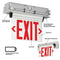 Compass CEL Series Edge-Lit LED Recessed Exit Sign with Battery - Double Face, Red Letters