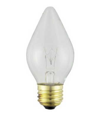 Satco S4535 60W C15 Clear Shatter Proof Incandescent Bulb