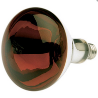 Satco S4884 250W R40 Red Heat Shatter Proof Incandescent Bulb