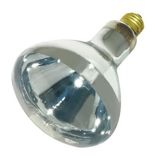Satco S4999 250W R40 Clear Heat Incandescent Bulb
