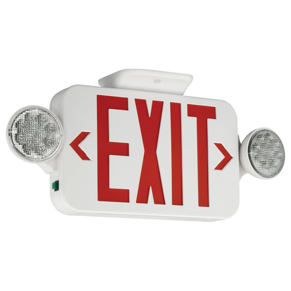 LED Combination Exit/Emergency Light - Red Letters