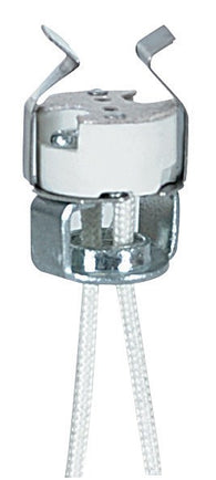 D3780 GU4 Porcelain Bi-Pin Halogen Socket - 10 pack