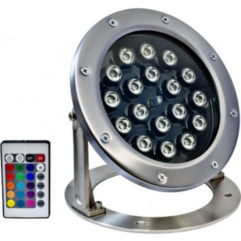 LV-LED360 18W LED W/21' Cord Underwater Light with remote controller