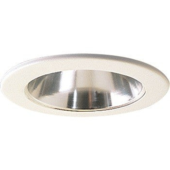 "4"" Specular Clear Reflector with White Metal Ring"