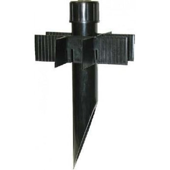 "PP2-BK 2"" Long PVC Post, Black"