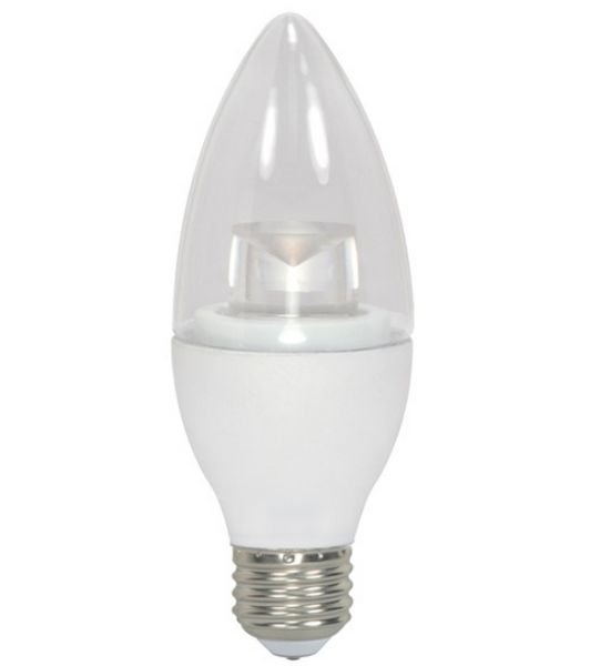 Satco S8953 4.5W B11 Clear LED Bulb