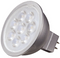 Satco S9490 6.5W MR16 LED Bulb - 25° Beam Spread, GU5.3 base, 2700K