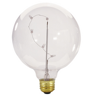 Bulbrite  ST-G40 5W G40 Starlight Clear Globe Incandescent Bulb