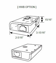 HWB Junction Box (Hardwire Box with No/Off Switch) for Under Cabinet