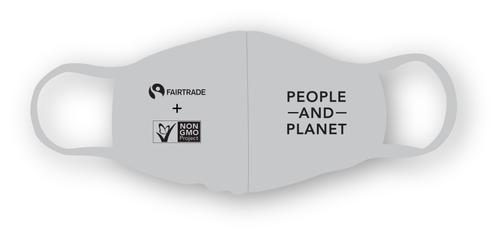 Non-GMO Project and FairTrade Facemask