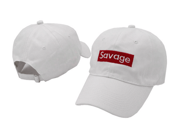 Savage Dad Hat White/Black