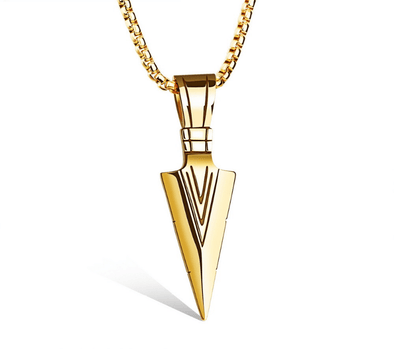 Spearhead Pendant Chain Gold/Silver