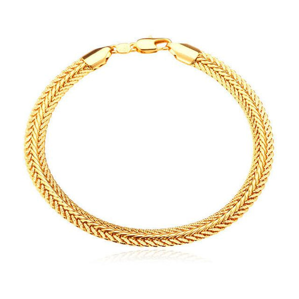 Thick Snake Chain Bracelets Gold/Black/Silver/Rose