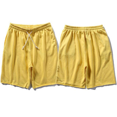 Upper Status French Terry Shorts Yellow