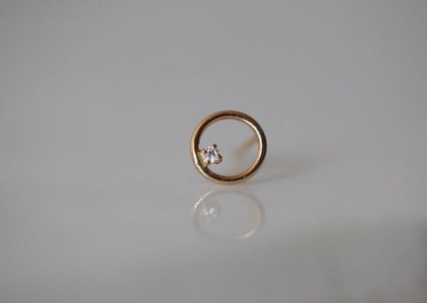 Full Moon Diamond Earring