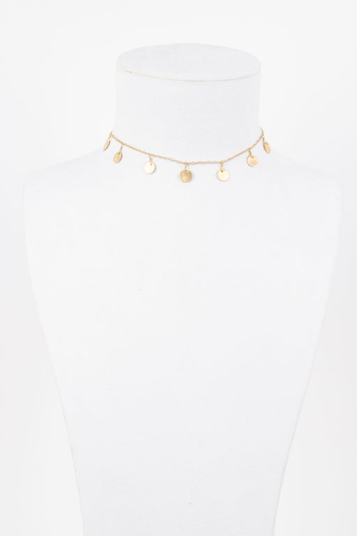 EIGHT by Gjenmi 14k plated coin choker