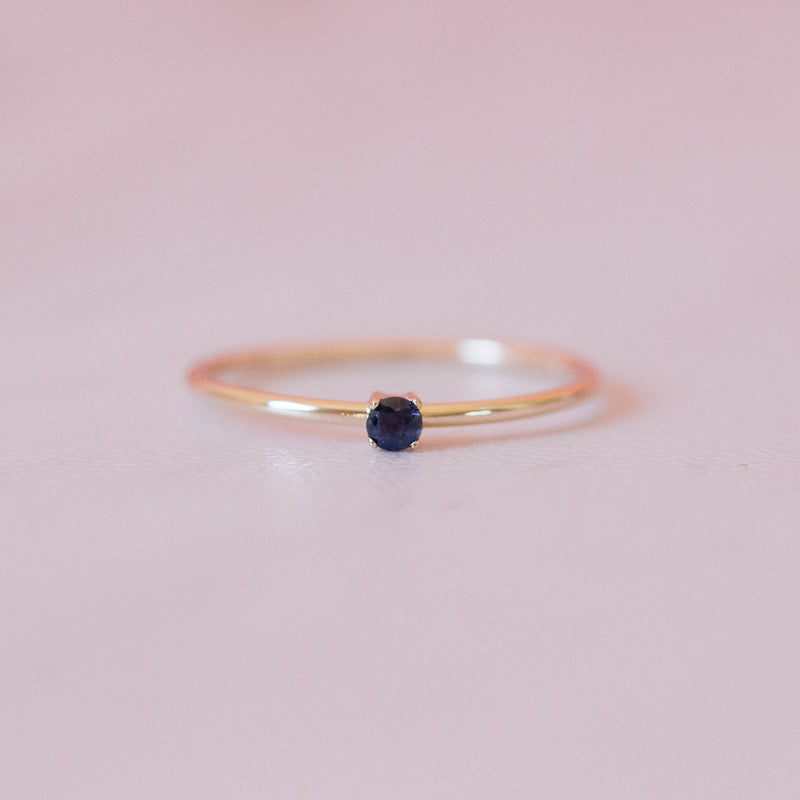 Sapphire Single Sister Ring