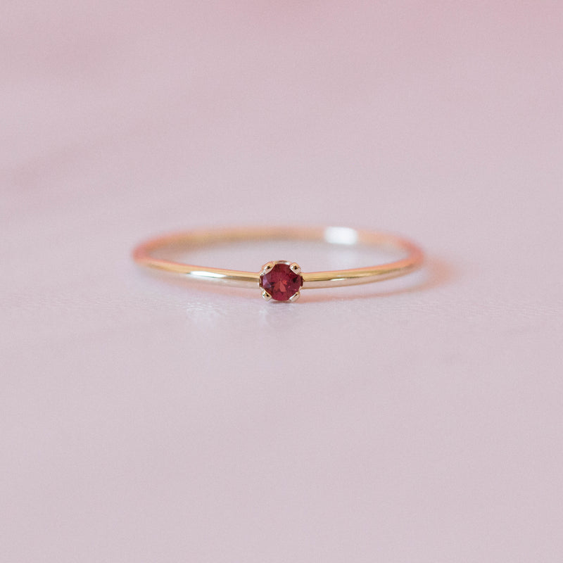 Ruby Single Sister Ring
