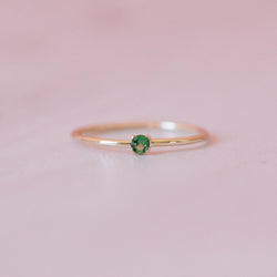 Emerald Single Sister Ring