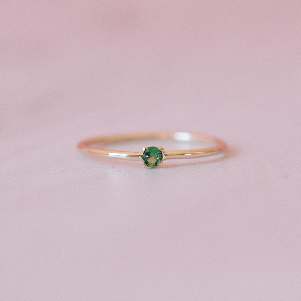 SAMPLE SALE Emerald Single Sister Ring