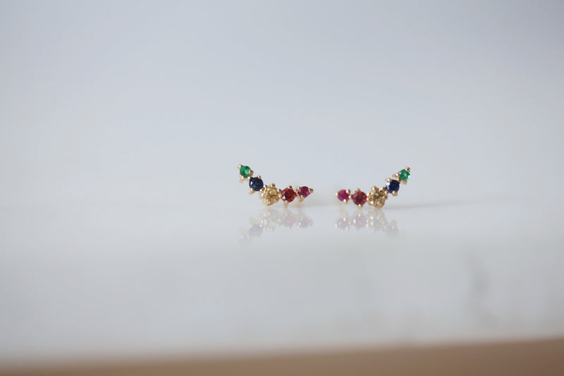 Rainbow Ballerina Earring | Ready To Ship