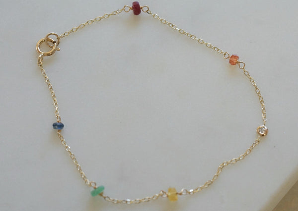 Rainbow Diamond Bracelet