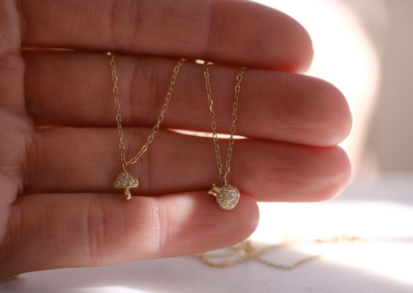Wild Times Mushroom Necklace