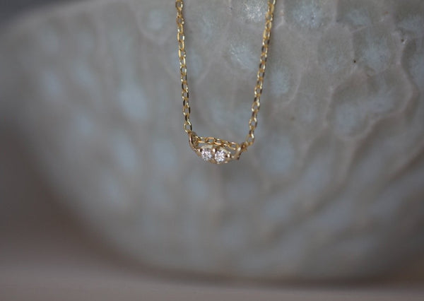 Twin Diamond Necklace