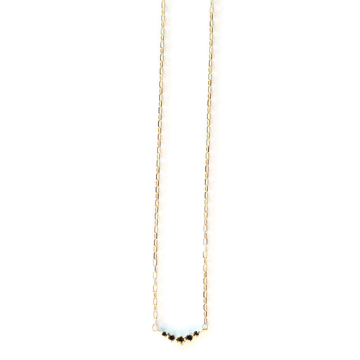 Ballerina Black Diamond Necklace