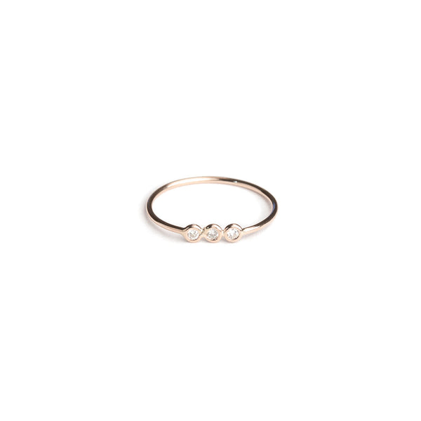 SAMPLE SALE Triple Line Diamond Wire Ring