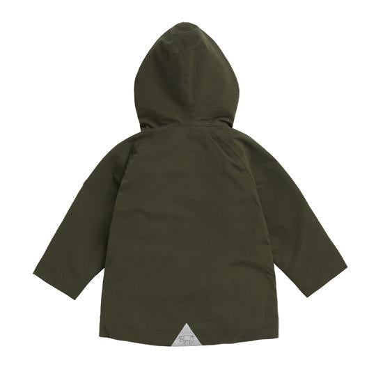 OLIVE WATERPROOF RAINCOAT