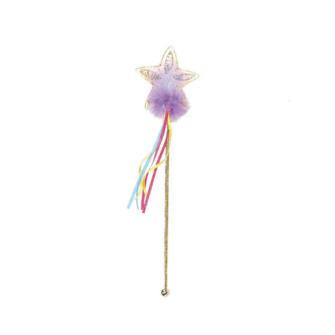 Multi Pastel and Gold Glitter Rainbow Wand